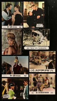2m063 LOT OF 8 GERMAN LOBBY CARDS '50s-60s great scenes from a variety of different movies!