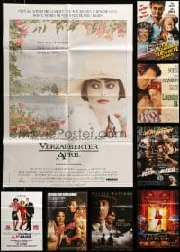 2m077 LOT OF 13 FOLDED GERMAN A1 POSTERS '70s-90s great images from a variety of movies!
