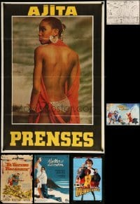 2m046 LOT OF 6 FOLDED POSTERS '50s-00s great images from a variety of different movies + map!