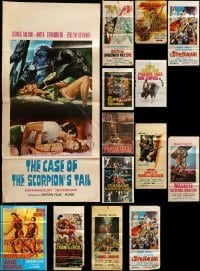 2m067 LOT OF 17 FOLDED MOSTLY ITALIAN POSTERS '60s-80s great images from a variety of movies!