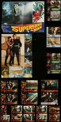 2m064 LOT OF 30 FOLDED SPANISH POSTERS '70s-90s great images from a variety of movies!