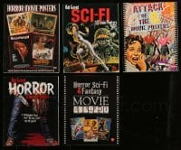 2m007 LOT OF 5 BRUCE HERSHENSON HORROR/SCI-FI SOFTCOVER MOVIE BOOKS '90s-00s color poster images!