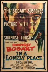 2z021 IN A LONELY PLACE 1sh '50 Humphrey Bogart at police station with Gloria Grahame & Lovejoy!