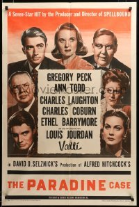 2z037 PARADINE CASE style A 1sh '48 Alfred Hitchcock, Gregory Peck, Todd, Laughton & top cast!