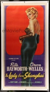 3a035 LADY FROM SHANGHAI linen 3sh '47 incredible full art of sexy blonde Rita Hayworth, very rare!
