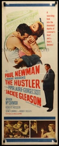 3b032 HUSTLER insert '61 pool pros Paul Newman & Jackie Gleason, plus sexy Piper Laurie!