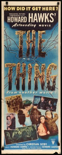 3b037 THING insert '51 Howard Hawks' astounding movie, how did it get here from another world!