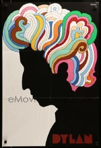 3b018 DYLAN 22x33 music poster '67 colorful silhouette art of Bob by Milton Glaser!
