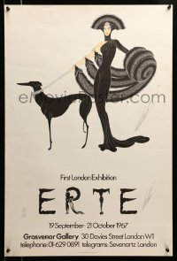 3b001 ERTE signed #58/75 20x30 English art print '67 by the artist, Symphony in Black!