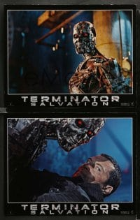 3g006 TERMINATOR SALVATION 12 LCs '09 Christian Bale, Sam Worthington, cool sci-fi images!