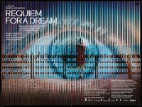 3j530 REQUIEM FOR A DREAM DS British quad '01 addicts Jared Leto & Jennifer Connelly, eye image!
