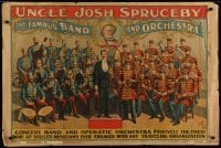 3k230 UNCLE JOSH SPRUCEBY THE FAMOUS BAND & ORCHESTRA 28x42 special 1890s finest skilled musicians!