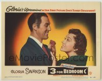 3x503 3 FOR BEDROOM C LC #1 '52 close up of Gloria Swanson pinning flower to James Warren's lapel!
