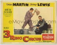 3x504 3 RING CIRCUS LC #8 R59 Dean Martin with giant axe over clown Jerry Lewis' head!