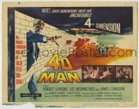 3x002 4D MAN TC '59 best special effects art of Robert Lansing walking through wall of stone!