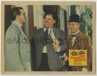 3x520 A-HAUNTING WE WILL GO LC '42 great close up of Stan Laurel & Oliver Hardy smiling!