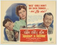 3x008 ADVENTURE IN BALTIMORE TC '49 Robert Young, John Agar & nice girl Shirley Temple!