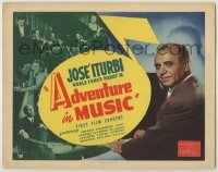 3x009 ADVENTURE IN MUSIC TC '44 close-up of famed conductor & pianist Jose Iturbi!