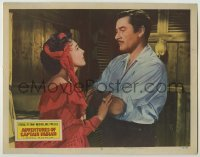 3x515 ADVENTURES OF CAPTAIN FABIAN LC #2 '51 Micheline Presle pleading with pirate Errol Flynn!