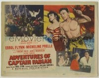 3x010 ADVENTURES OF CAPTAIN FABIAN TC '51 art of barechested Errol Flynn & sexy Micheline Presle!