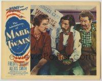 3x516 ADVENTURES OF MARK TWAIN LC '44 Fredric March with Alan Hale & John Carradine holding frog!