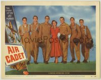 3x521 AIR CADET LC #6 '51 the story of U.S. Air Force jet pilots, cool cast line-up image!
