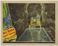 3x524 ALI BABA & THE FORTY THIEVES LC '43 pretty Maria Montez & Jon Hall by reflecting pool!