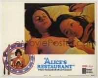 3x525 ALICE'S RESTAURANT int'l LC #7 '69 close up of Arlo Guthrie laying in bed with Tina Chen!