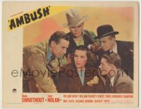 3x528 AMBUSH LC '39 Gladys Swarthout surrounded by Lloyd Nolan, Richard Denning & two other men!