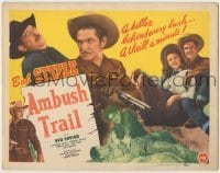 3x017 AMBUSH TRAIL TC '46 Bob Steele, Lorraine Miller, a killer behind every bush!