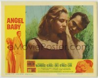 3x529 ANGEL BABY LC #3 '61 close up of barechested Burt Reynolds with sexy Salome Jens!