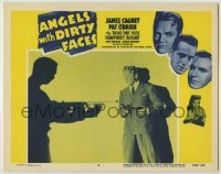3x530 ANGELS WITH DIRTY FACES LC #6 R56 James Cagney w/2 guns by silhouette of man w/machine gun!