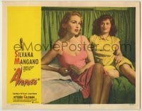 3x531 ANNA LC #5 '53 c/u of Silvana Mangano in nightgown, a prostitute/singer turned nun & nurse!