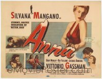 3x020 ANNA TC '53 art of Silvana Mangano, a prostitute/singer turned nun & nurse!
