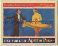 3x535 APRIL IN PARIS LC #5 '53 pretty Doris Day twirling her skirt while dancing with Ray Bolger!