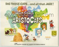 3x025 ARISTOCATS TC R73 Walt Disney feline jazz musical cartoon, great colorful images!