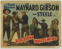 3x026 ARIZONA WHIRLWIND TC '44 Ken Maynard & Hoot Gibson watch Bob Steel with bad guy!