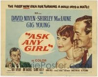 3x028 ASK ANY GIRL TC '59 art of David Niven, sexy Shirley MacLaine & Gig Young!