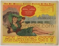 3x031 ATLANTIC CITY TC '44 wonderful art of sexy Constance Moore by James Montgomery Flagg!