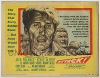 3x033 ATTACK TC '56 art of WWII soldiers Lee Marvin, Jack Palance & Richard Jaeckel!