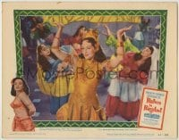 3x542 BABES IN BAGDAD LC #3 '52 c/u of pretty Paulette Goddard as dancing Arabian harem girl!