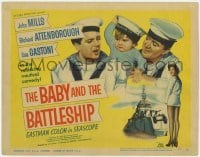 3x034 BABY & THE BATTLESHIP TC '57 English sailors John Mills & Richard Attenborough w/ cute kid!