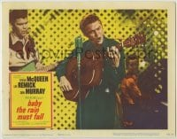3x544 BABY THE RAIN MUST FALL LC '65 best c/u of Steve McQueen playing guitar & singing on stage!
