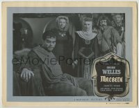 3x786 MACBETH LC #4 '48 great close up of star & director Orson Welles, Shakespeare!