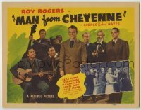 3x284 MAN FROM CHEYENNE TC '42 Roy Rogers & Gabby Hayes with The Sons of the Pioneers!