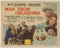 3x286 MAN FROM OKLAHOMA TC '45 Roy Rogers, Dale Evans, Gabby Hayes + sexy Native Americans!