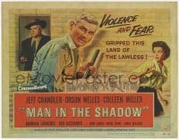 3x288 MAN IN THE SHADOW TC '58 Jeff Chandler, Orson Welles & Colleen Miller in a lawless land!