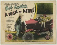 3x290 MAN OF NERVE TC '25 cowboy Bob Custer helps young Jean Arthur with her car troubles!