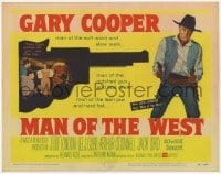 3x291 MAN OF THE WEST TC '58 Gary Cooper is the man of the notched gun and fast draw!