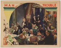3x792 MAN TROUBLE LC '30 Milton Sills is alone in tuxedo at New Year's Eve party!